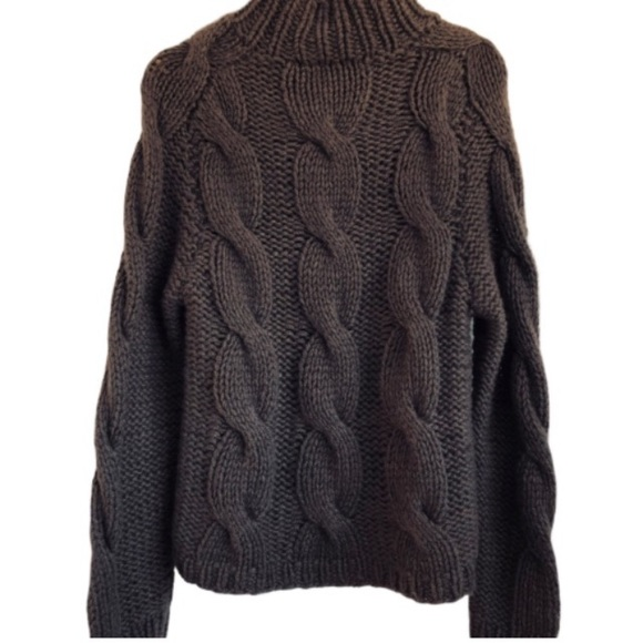 Gucci Cable Cashmere Sweater Brown Authentic